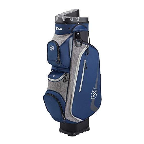 Wilson Staff I Lock III Cart Bag Bolsa de Golf, Capacidad para 9 Palos, 3.2 kg, Unisexo-Adulto, Azul/Gris, Talla única