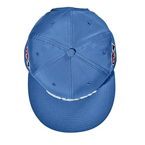 Wilson Staff Flat Brim Cap Gorra de Golf, para Hombre, Visera Plana, Talla Ajustable, poliéster, Azul, OSFA