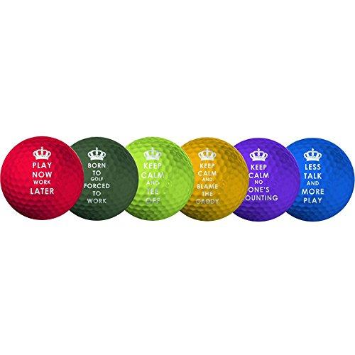 LONGRIDGE Keep 6 Calm de - Bolas de Golf estándar, Color Multicolor
