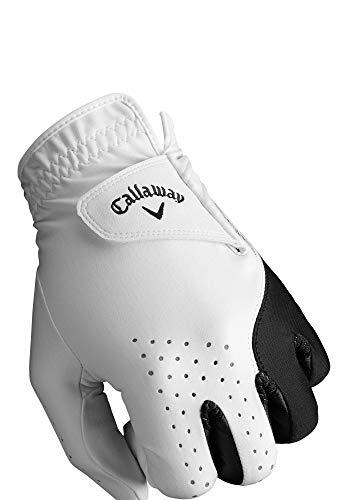 Callaway 5319197 Hombre Golf Weather Spann Guantes de Mano Izquierda 2 Piezas, Mediano, Blanco