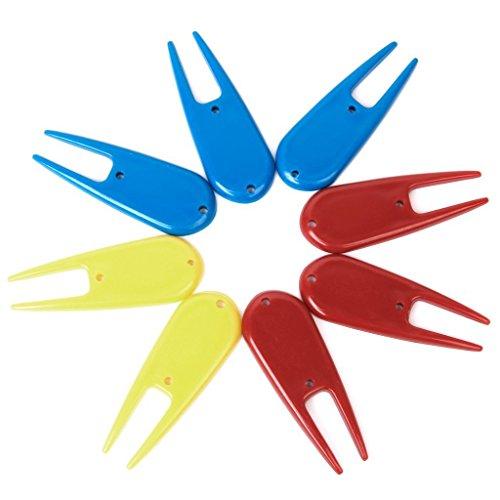 TOOGOO(R) 8 x accesorios de plastico herramienta divot golf