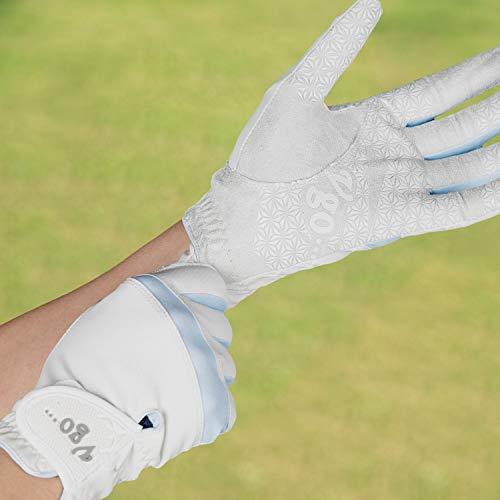 Vgo... Guantes de Golf de Microfibra para Mujer de la Mano Izquierda (Talla 8/M, Azul Claro, MF7991)