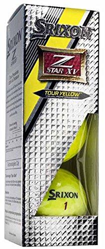 Srixon Z Star XV Bolas 4 Capas de Golf, Unisex Adulto, Amarillo, Talla Única