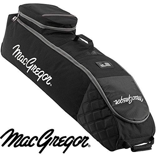 MACGREGOR MACTC003SD Bolsa de Golf de Viaje con Ruedas, Unisex-Adult, Black, One Size