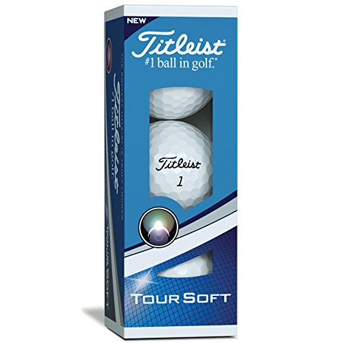 Titleist Tour Soft Bolas Golf, Blanco, Talla Única