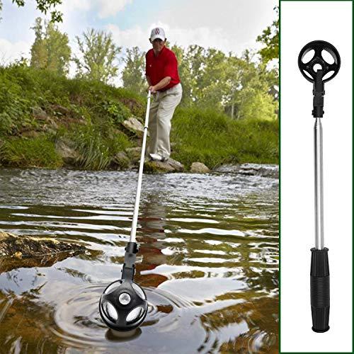 prowithlin Recuperador de Pelotas de Golf, Recuperador de Pelotas de Golf Telescópico de Acero Inoxidable para Agua, Accesorios de Golf Regalo de Golf para Hombres, Longitud: 2,74 m, Peso: 250g