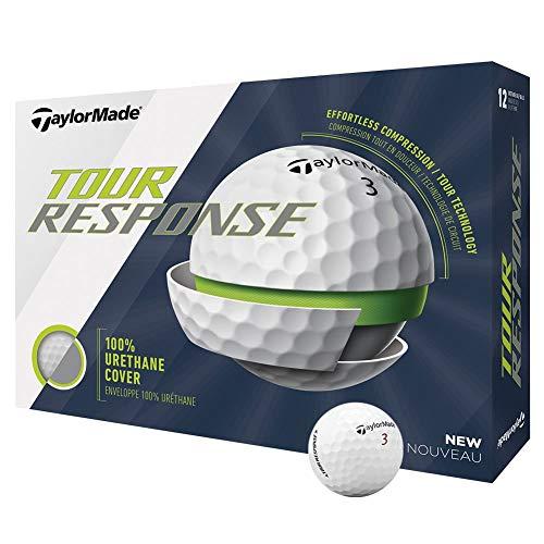 TaylorMade Tour Response - Pelota de golf, color blanco, docena