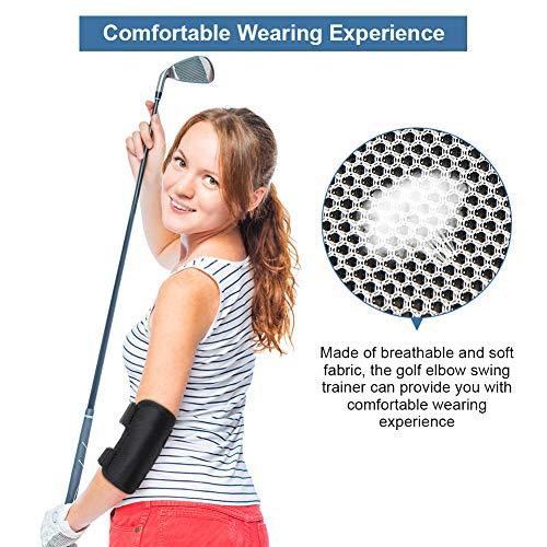Entrenador de Swing de Golf, Ayuda para el Codo del Swing de Golf, Ayuda a la práctica Recta, Recta Corrector de Codo Swing Trainer Corrector de Equipo de Alarma