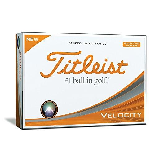 Titleist Velocity Visi Bola de Golf, Hombres, Blanco, Talla Única