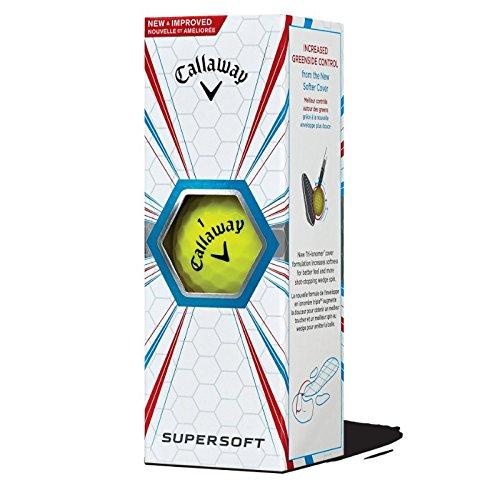 Callaway Supersoft Bolas de Golf, Unisex Adulto, Amarillo, Talla Única