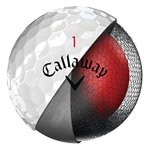 Callaway CG BL Chrome Soft 18 Bolas de Golf, Unisex-Adult, Blanco, Talla Única