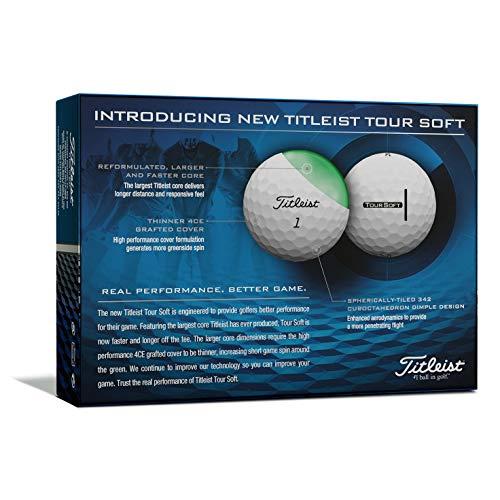 Titleist - Tour Soft - Pelotas de golf - T4012S, Blanco