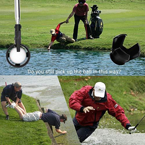 prowithlin Golf Ball Retriever, Acero Inoxidable Telescópico Golf Ball Retriever para Agua con Golf Ball Putter Grabber Tool, Accesorios de Golf Golf Gift para Hombres, Longitud: 1,83 m, Peso: 180 g