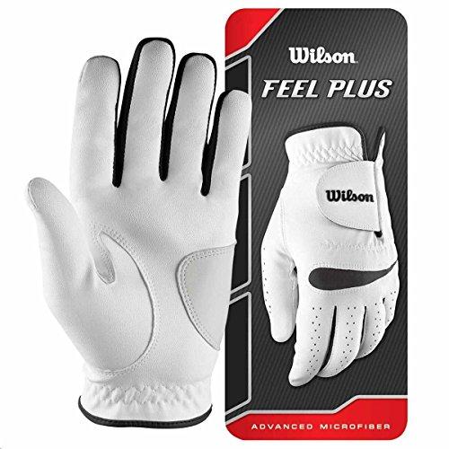 Wilson, Guante de golf para hombre, Talla S, Mano izquierda, MLH, Blanco, Feel Plus, WGJA00064S