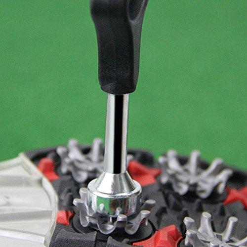 Dioche Llave para Zapatos de Golf Spike Remover Quitar Ripper Accesorios de Acero Inoxidable Golf Spike Llave de Carraca Herramienta