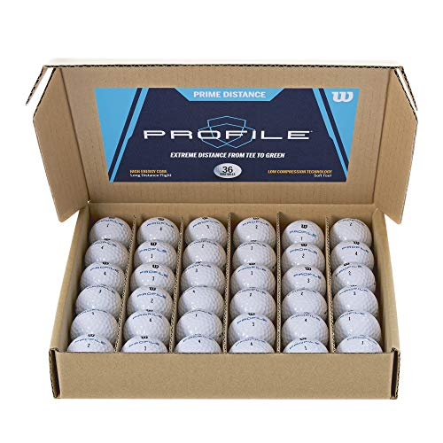 Wilson Prime Distance Golfball, Unisex-Adult, White, One Size