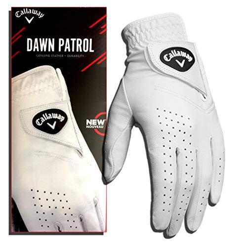Callaway Dawn Patrol Guante de Golf, Hombre, Blanco, S