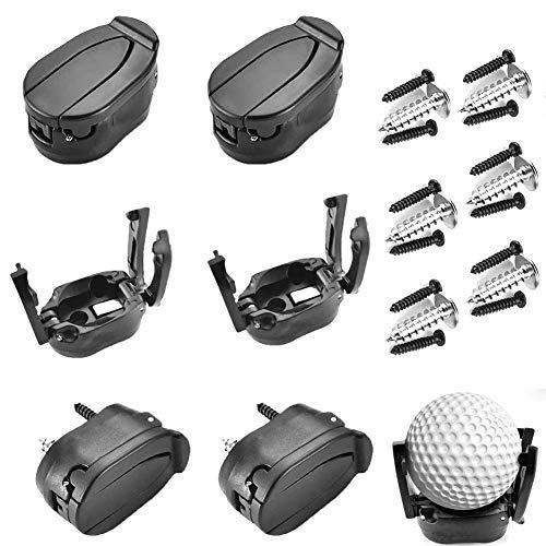 Weilisi - Juego de 6 piezas para pelotas de golf (plástico, plegables, accesorios de golf, para entrenamiento de golf