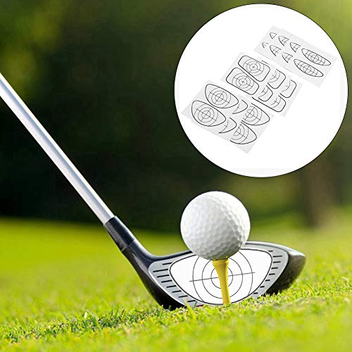 VGEBY1 Adhesivo de Ayuda para Entrenamiento del Club de Golf, Adhesivo de Impacto de Golf de Uso repetido Accesorio de Ayuda para Entrenamiento de Golf