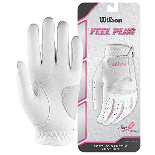 Wilson, Guante de golf para mujer, Talla S, Mano izquierda, LLH, Blanco, Feel Plus, WGJA00770S