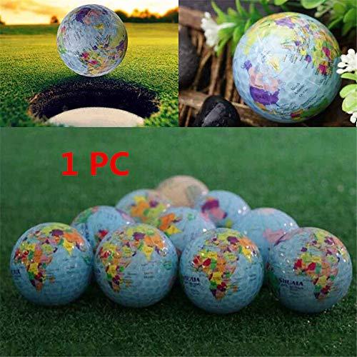 Bolas de práctica de Golf Globo terráqueo Mundial Bolas de Golf Construcción de Doble Capa Mapa Mundial Ocasión Patrón Deporte Pelotas de Golf