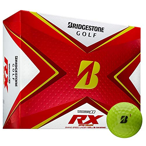 Bridgestone 2020 Tour B RX - Pelotas de golf (1 docena), color amarillo
