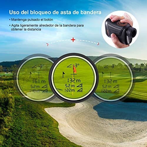 Telémetro de Golf, Tacklife-MLR01, Telémetro Profesional 800m, Telemetro Prismático Medidor Monocular, Multifunciones con Bloqueo de Bandera, 7X Aumento, Medición de diatancia y Velocidad
