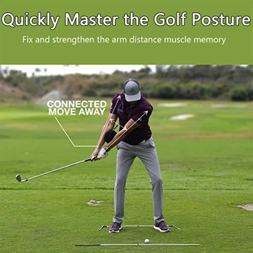 Supercat Golf Bola de Impacto Golf Swing Trainer Ayuda Smart Assist Práctica de Pelota Postura Postura Corrección Entrenamiento Brazo Inteligente Ajustable Guía de Movimiento Negro
