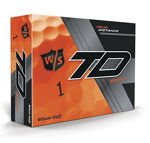 Wilson 2017Personal True Distancia Suave Pelotas de Golf (una docena), Hombre, True Distance, Naranja, Large