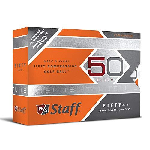 Wilson Staff Fifty Elite – Bolas de Golf, Color Naranja