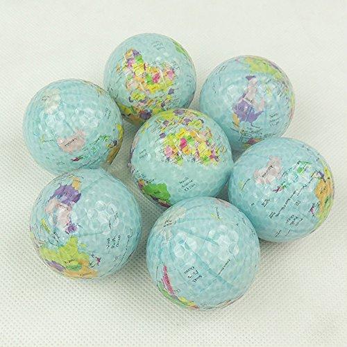 CHRISTY HARRELL 3 pelotas de golf, globo terráqueo mundial, bolas de golf de doble capa, diseño de mapamundi, ocasiones y deportes, pelotas de golf