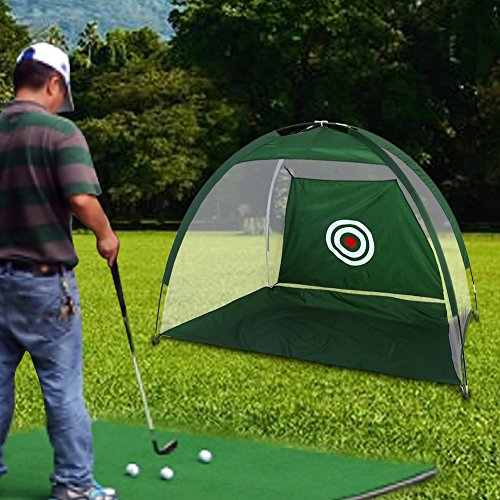 Dioche Red de Práctica de Golf, Malla de Nylon Verde Golf Plegable Chips Neto Colector de Soporte de la Bolsa de Entrenamiento de Accesorios