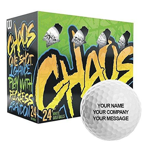 Wilson Staff Bolas de Golf Pack de 24, Principiantes, Compresión 80, Chaos, Hombre, Blanco, Talla Única